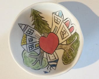 The Heart of Our Town--tiny story bowl