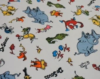 Double Minky Blanket Baby Blanket * Dr Seuss Characters