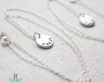 Never Forgotten Date Necklace - Remembrance necklace - Miscarriage Necklace for Babyloss - Mother's Day Gift for Mom Jewelry