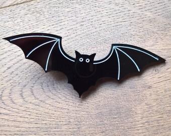 Gothic Bat Hair Clip Large