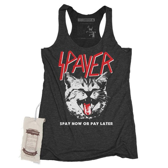 heavy metal shirt band shirt slayer cat shirt. Black Bedroom Furniture Sets. Home Design Ideas