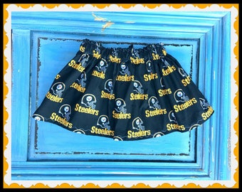 Pittsburgh Steelers skirt  2T 3T 4T 5T 4/5 6/6X 7/8 10/12 14/16 ready to ship
