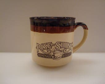 Vintage Hardee's Rise & Shine Homemade Biscuits Mug - Circa 1986 - Excellent Condition!!