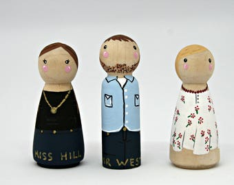 Teacher Peg People, Figures, personalised
