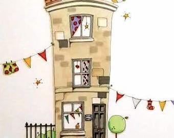 Homes Pictures Art Illustration
