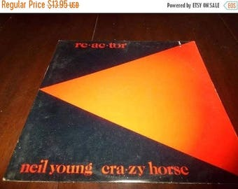 Save 30% Today Vintage 1981 Vinyl LP Record Re ac tor Neil Young Near Mint Condition 6881