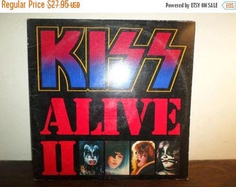 Save 30% Today Vintage 1977 LP Record Kiss Alive II Two Record Set Excellent Condition with Original Book 9961