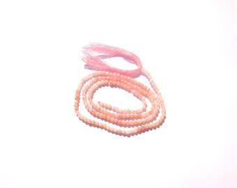 Multicolor Rose from India Opal / pink Opal: 10 MICRO faceted 2 mm beads