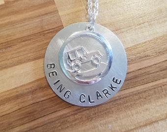 "The 100-Bellarke ""Being Clarke"" hand stamped necklace-Bellamy Blake and Clarke Griffin"