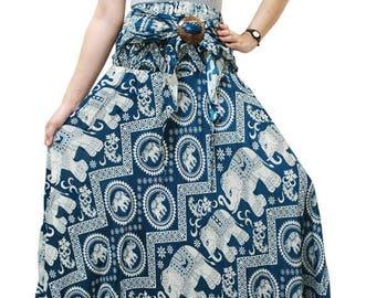 Green Elephant- Skirt&Dress in one,Boho Skirt,comfy Wear