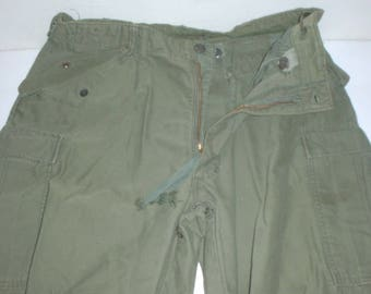 US Army M-65, M-1965 field trousers, small-short  34 X 28, missing tags, light stains