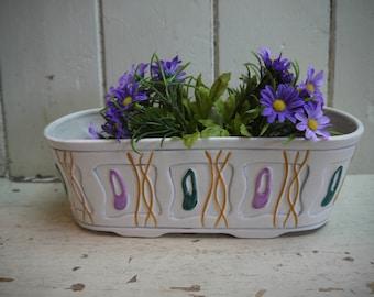 Retro Mid Century Ceramic Planter - Vintage Planter - Made in England - Ceramic Planter - Plant pot - Indoor planter - Retro planter