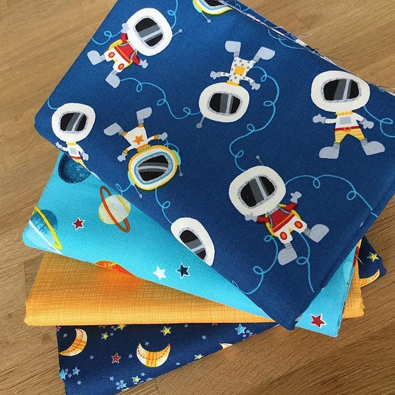 Space adventures fat quarter bundle c fabric by studio e for 3d space fabric