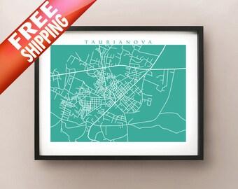 Taurianova, Calabria Map Print