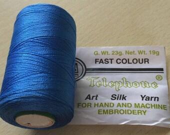 Rayon thread / artificial silk 50 sky blue