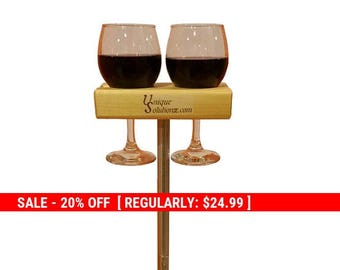 Holiday Sale 20% Off Wine Glass Holder to hold your wine glass outdoors in style.  The Wine Pedestal!