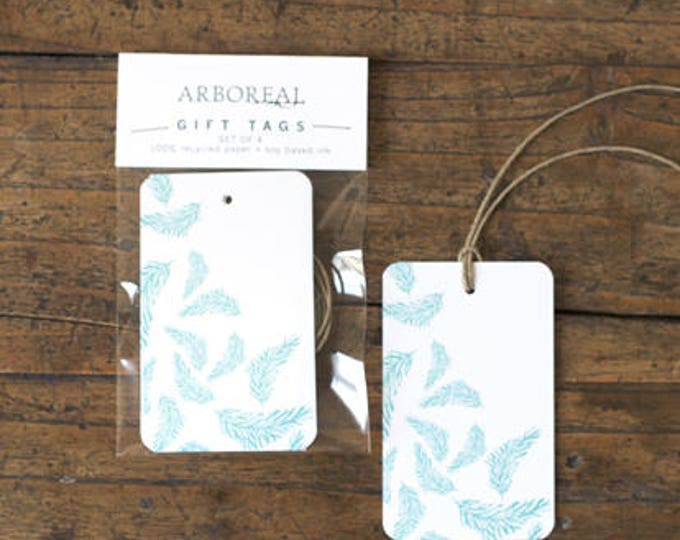 Teal Feather Gift Tags (original retail 6.50)