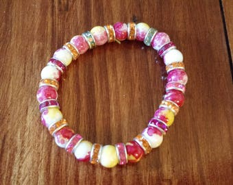 Stretchy Accessable Beaded Bracelet multicolor beads fun and casual