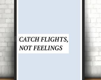 Catch Flights Wall Art Print