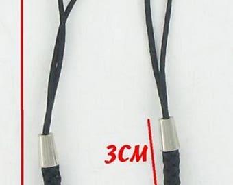 X 10 cords portable black tip