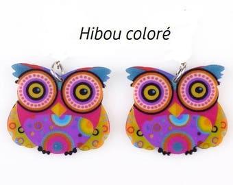 X 1 acrylic colorful OWL