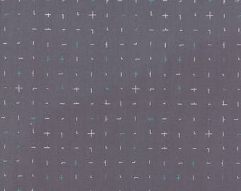 1/2 Yard - Fragile - Almost Plus - Graphite - Zen Chic - Brigitte Heitland - Moda - Fabric Yardage - 1634 14