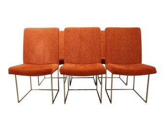 Mid-Century Dining Chairs Danish Modern Milo Baughman Thayer Coggin Dining Chairs-Set of 6