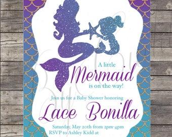 Mermaid Baby Shower Invite