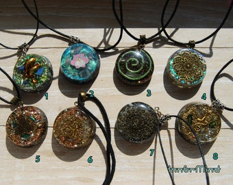 Orgonite® Orgone Pendants Orgone with clear quartz. Old stock. Gift Gifting. Very special Offer - Deal