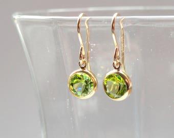 Peridot earrings, Gold peridot earrings, Peridot jewellery, Green stone earrings, August birthstone earrings, Gifts