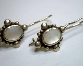 925 silver mother of pearl earrings earrings around 1935