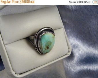 ON SALE Ring Rare Grade Easter Blue Turquoise Sterling Silver Southwest Handmade Ring Sz 5.25