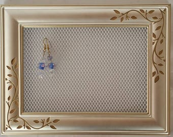 Earring hanger, Jewelry holder mini,  Earring display wall, Jewelry hanger, Earring organizer, Wall earring holder, Jewelry organizer wall
