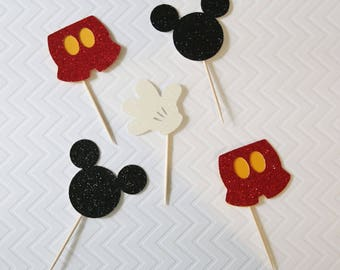 Mickey mouse cupcake toppers; Mickey mouse party; Birthday Party