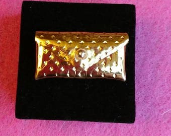 MINT!! Vintage Barbie Gold Dimple Purse From Silken Flame/ Party Date