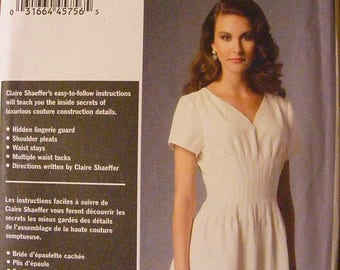 ON SALE 35% OFF Misses' Dress Claire Shaeffer's Custom Couture Vogue Uncut Sewing Pattern 9046 Size 16 18 20 22 24