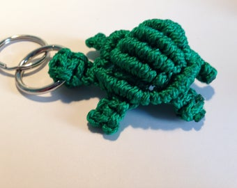 Turtle Keychain, Macrame