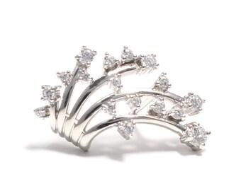 Zirkoniabesetzte shooting ear crawler - ear climber - ear cuffs made of 925 sterling silver