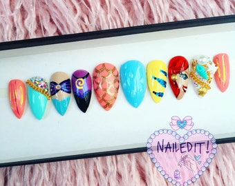 NAILED IT! Hand Painted False Nails - Mermaid Scales