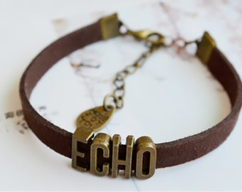 Custom Initials Rope Bracelet,Personalized name leather bracelet, Valentine's Gifts ,up to 8 letters