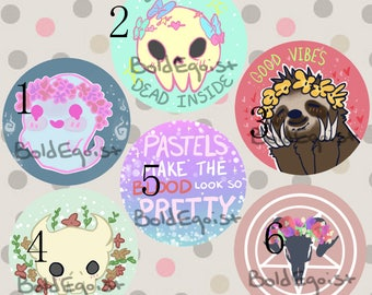 Pastel Aesthetic Buttons