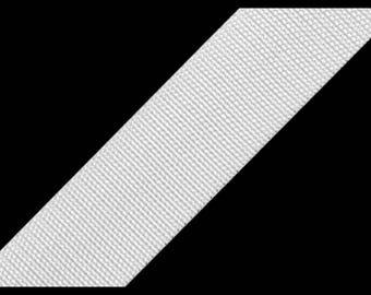 30 mm white polypropylene webbing