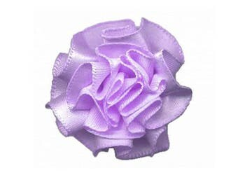 3 small flower in violet purple satin - 430