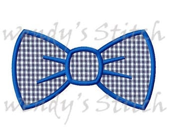 Bow tie applique machine embroidery design