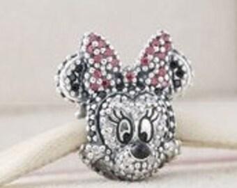 Pandora Sterling Silver Sparkling Disney Minnie Portrait Charm