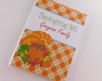 Thanksgiving Photo Album Cornucopia 4x6 or 5x7 Pictures Personalized Baby Fall Autumn Family Holiday 803