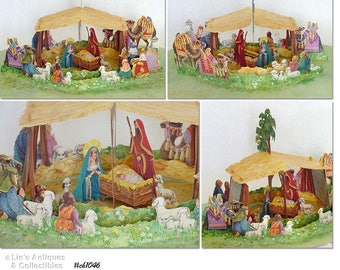 Vintage Christmas Very Detailed Vintage Hallmark POP-UP Nativity at Lin's Antiques (Inventory #CH1046)