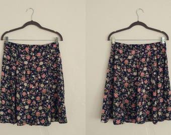 Kathie Lee Floral Swing Skirt (12). Kathie Lee Skirt. Floral Skirt. Swing Skirt. Vintage Skirt. Vintage Floral.