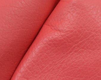 """Dandy Coral Candy """"Signature""""  Leather Cow Hide 12"""" x 12"""" Pre-Cut 2-3 oz flat grain DE-61159 (Sec. 8,Shelf 3,D)"""