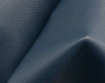 "Noble Navy Blue ""Signature"" Leather Cow Hide 12"" x 12"" Pre-cut 2-3 oz flat grain DE-61623 (Sec. 8,Shelf 4,D)"